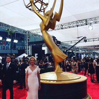 Roxanne Messina Captor at the Emmy Awards